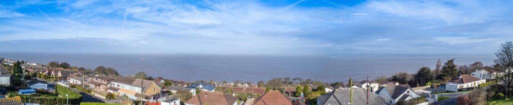 The fantastic view from the finished development at Hill Crest Road, Portishead.